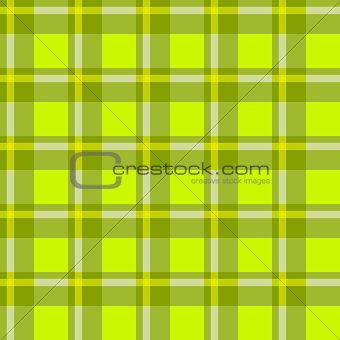 Green checkered cloth