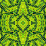 Green ethnic patchwork background design