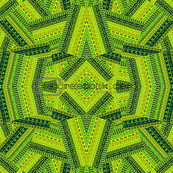Green ethnic patchwork background design