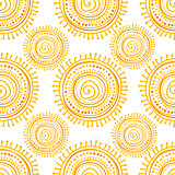 Hand drawn ethnic sun