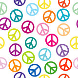 Peace sign seamless pattern