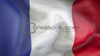 French flag 3d illustration