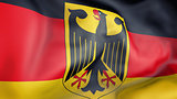 Germany flag 3d illustration