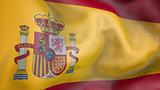 Spain flag 3d rendering
