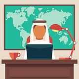 Arabian Businessman Working in The Office
