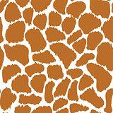 Giraffe skin vector seamless pattern texture