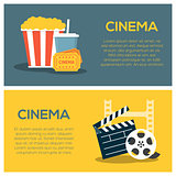 Cinema concept poster template