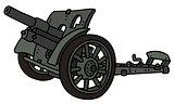 Vintage gray cannon