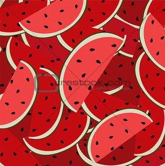 background of ripe watermelon cartoon