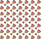 Cute seamless background with watermelon slices. beautiful vector illustration