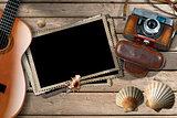Guitar - Photos Frames - Camera and Seashells