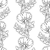 Floral seamless pattern. Flower background. Flourish tiled wallpaper and stylized acanthus leaves