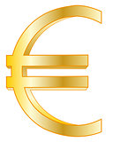 Sign euro golden