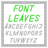 English font from vector leaves