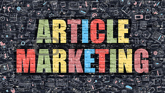 Article Marketing on Dark Brick Wall.
