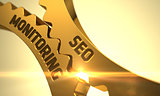 Seo Monitoring Concept. Golden Cog Gears.