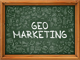 Green Chalkboard with Hand Drawn Geo Marketing