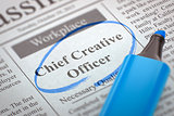 Chief Creative Officer Hiring Now.