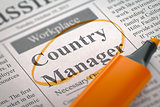 Country Manager Join Our Team.