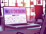 Web Design Concept on Laptop Screen.