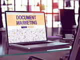 Document Marketing - Concept on Laptop Screen.