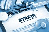 Ataxia. Medical Concept.