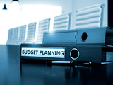 Budget Planning on File Folder. Blurred Image.