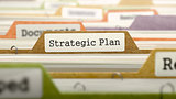 Folder in Catalog Marked as Strategic Plan.