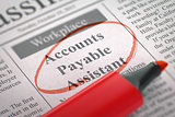 Now Hiring Accounts Payable Assistant.