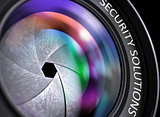 Closeup Photo Lens with Security Solutions.