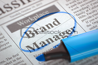 Brand Manager Wanted.