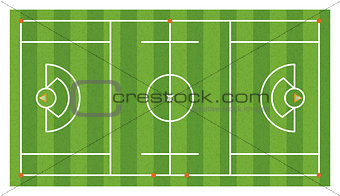 Aerial Lacrosse Field Illustration