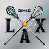 Lacrosse LAX Emblem Illustration