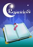 Ramadan and open book Koran