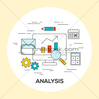 Business analysis concept illustration