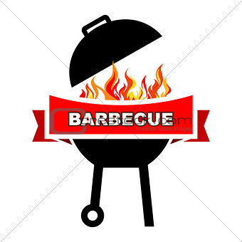 BBQ label design.