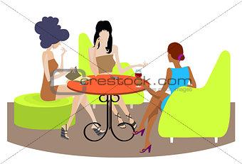 Three girls conversation