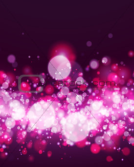 Abstract magenta bokeh background.