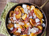 rustic german home fries bratkartoffeln