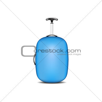 Travel suitcase in blue design