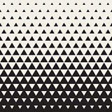 Vector Seamless White to Black Transition Triangle Halftone Gradient Pattern