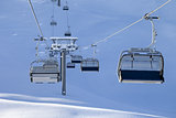 Ski-lift at early morning