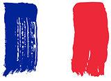 Big drawn flag of France.