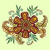 Floral Outline Calligraphic Pattern