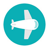 Plane icon flat