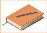 notebook flat vector 3d illustration