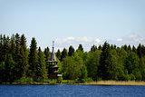 Old wooden orthodox church, Kizhi island, Karelia, Russia