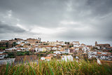 Long exposure of Medieval Caceres with cloudy sky