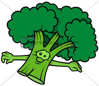 Green Cartoon Broccoli