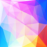 Abstract multycolor polygonal geometric background made of triangles.